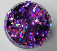 Starlight Nail Art Glitter - 12 Purple Octagons (2 oz.)