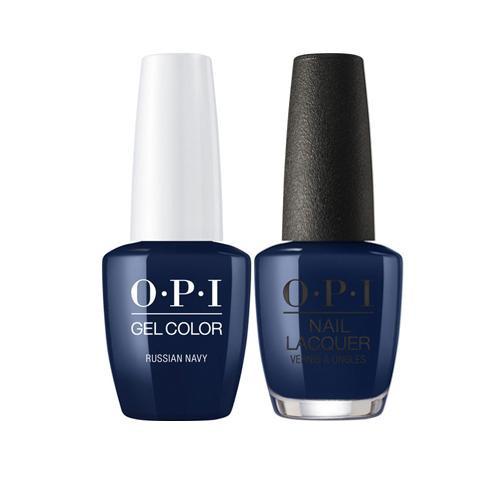 OPI Gelcolor Lacquer Russian Navy J66 Gel Polish Navy Blue Dark Blue ...