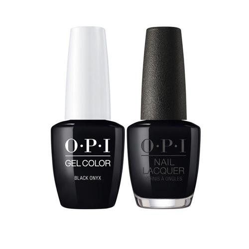 OPI Gelcolor Lacquer Black Onyx J67 Gel Polish Black Iconic Duo ...