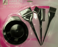 Hair Coloring Brush and Bowl Set