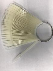 Starlight Nail Tip Display - Key Ring Stiletto Pointy Natural (50 pcs)
