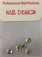 Starlight Nail Art - Octagon Crystals AB Rhinestones