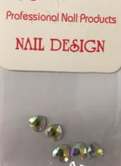 Starlight Nail Art - Heart Crystals AB Rhinestones