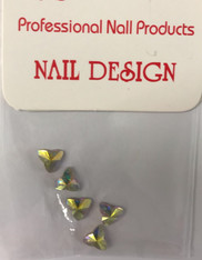 Starlight Nail Art - 3 Leaf Crystals AB Rhinestones