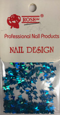 Starlight Nail Art - Blue Butterflies (foil)