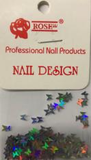 Starlight Nail Art - Silver Butterflies (foil)
