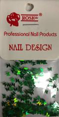 Starlight Nail Art - Green Butterflies (foil)