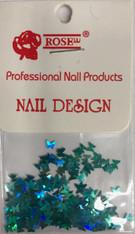 Starlight Nail Art - Light Blue Butterflies (foil)