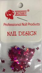 Starlight Nail Art - Dark Pink Butterflies (foil)