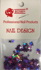 Starlight Nail Art - Purple Butterflies (foil)