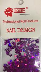 Starlight Nail Art - Dark Purple Butterflies (foil)