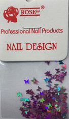 Starlight Nail Art - Light Purple Butterflies (foil)