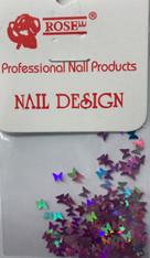 Starlight Nail Art - Light Purple Butterflies (foil)