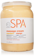 Spa Organics Massage Cream -Mandarin & Mango (128 oz)