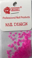 Starlight Nail Art - Neon Dark Pink Butterflies