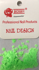 Starlight Nail Art - Neon Green Butterflies