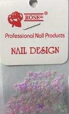 Starlight Nail Art - Pink Butterflies (foil)