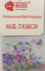 Starlight Nail Art - Rainbow Butterflies (foil)