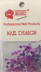 Starlight Nail Art - Purple Mix Butterflies (foil)