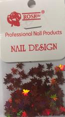 Starlight Nail Art - Orange Leaves (foil)