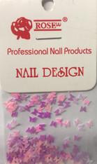 Starlight Nail Art - Pink Purple Mix Butterflies (foil)