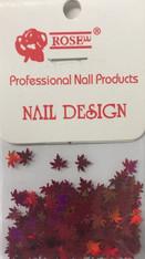 Starlight Nail Art - Red Leaves (foil)