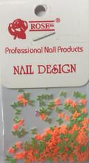 Starlight Nail Art - Green Orange Mix Butterflies (foil)