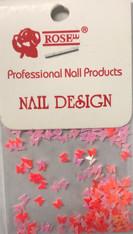 Starlight Nail Art - Pink Red Mix Butterflies (foil)