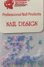 Starlight Nail Art  Pink Purple Blue Mix Butterflies (foil)