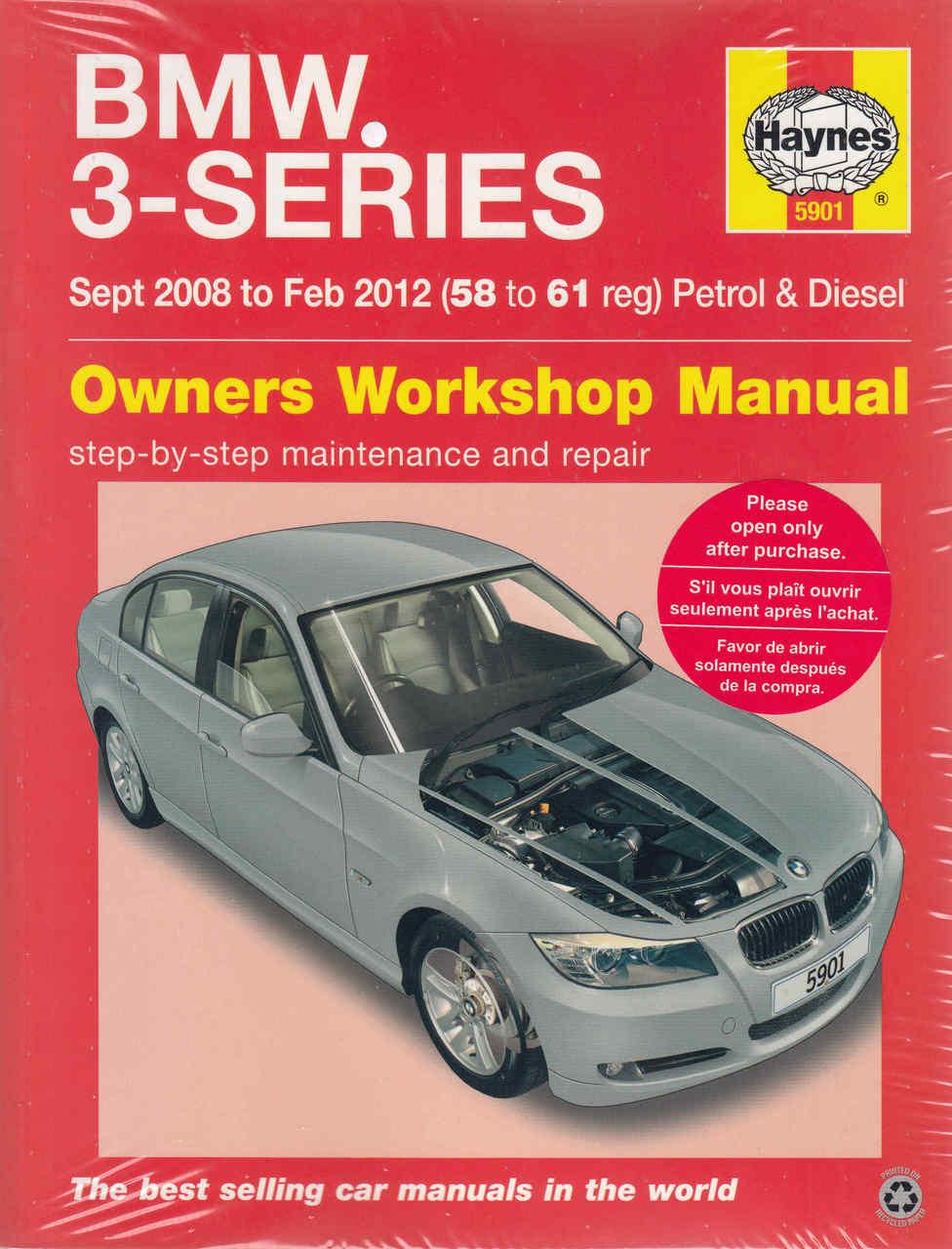 bmw 3 series e90 e91 sept 2008 feb 2012 petrol diesel workshop rh automotobookshop com au bmw e91 service manual pdf bmw e90 maintenance manual pdf