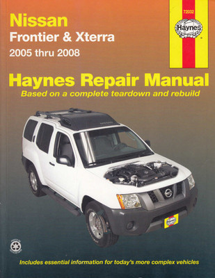 Nissan Frontier, Xterra 2005 - 2008 Workshop Manual (9781563927027)