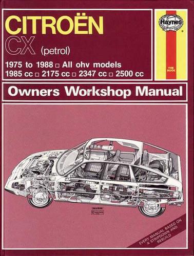 citroen cx 1975 1988 workshop manual rh automotobookshop com au