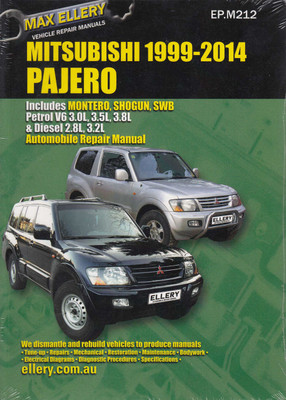 product comparison mitsubishi pajero nl nm np ns nt nw petrol rh automotobookshop com au Mitsubishi Pajero 2015 2017 Mitsubishi Pajero