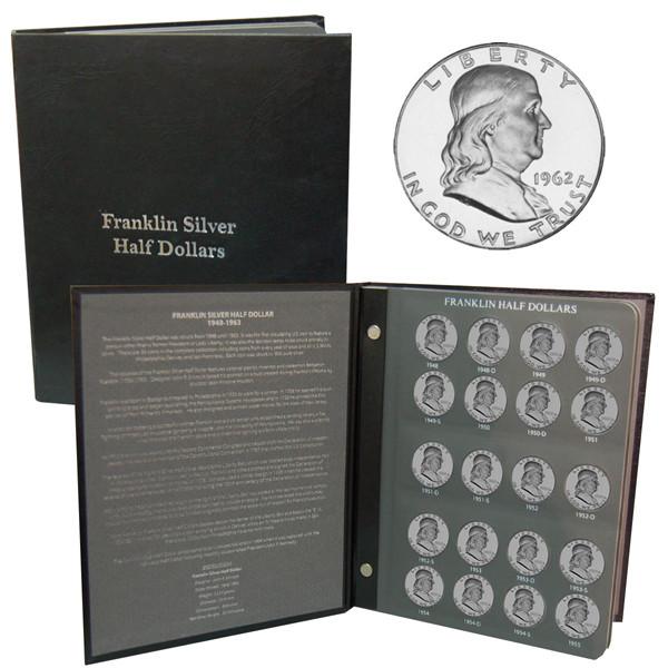 Franklin Half Dollar Set with Album