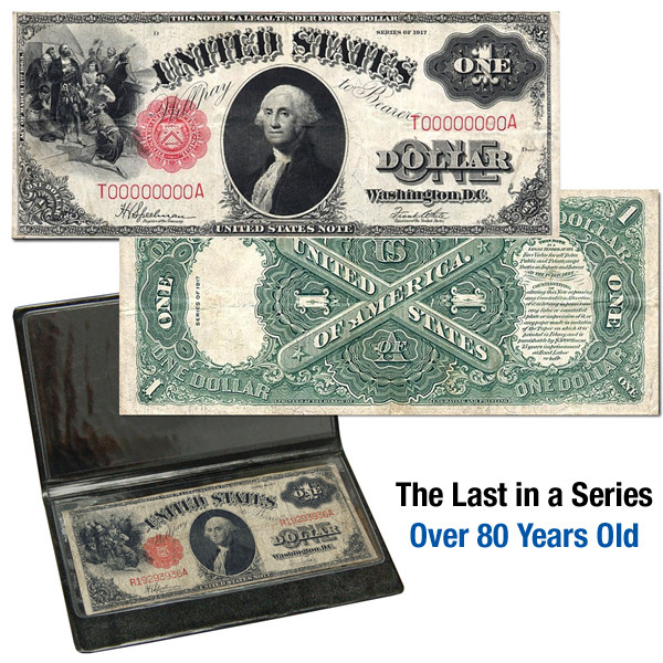 1917 $1 Large Note (please note : image is for reference only, we don't guarantee any serial # )