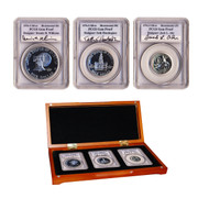 1976 Silver Bicentennial 3-Coin Autographed Proof Set