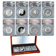 2014 50th Anniv Kennedy 90% Silver Half Dollar Set