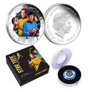 Star Trek 50th Anniversary Kirk & Spock Silver Proof Coin