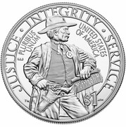 2015 US Marshals 225th Anniversary Proof Silver Commemorative dollar