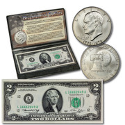 Bicentennial  Coin and Currency Dollar Set