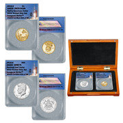 2019 Rocketship JFK SP69 PL &  Native American Dollar PR70 Coin Set