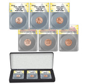 2019-W Lincoln Cent  3 Coin Set ANACS 69 - West Point Mint