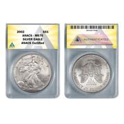 2002 American Silver Eagle MS70