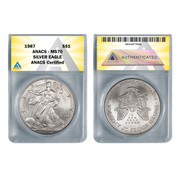 1987 American Proof Silver Eagle MS70
