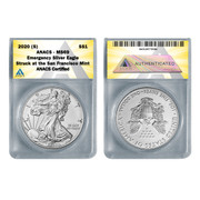2020 (S) American Silver Eagle MS69 - Emergency ASE Production