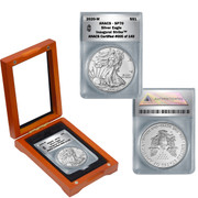 2020-W American Silver Burnished Eagle SP70 Inaugural Strike