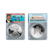 2020-W American Proof Silver Eagle PR70 Trump Label  (LE 100)
