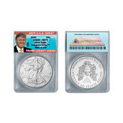 2020 American Silver Eagle MS70 Trump Label  (LE 100)