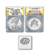 "2020-W ""V75"" End of World War II 75th Anniversary American Eagle Silver Proof PR69"