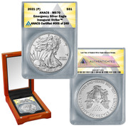 2021 (P) American Silver Eagle MS70 - Emergency ASE Production